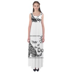 Year Of The Dog   Chinese New Year Empire Waist Maxi Dress