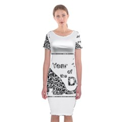 Year Of The Dog   Chinese New Year Classic Short Sleeve Midi Dress