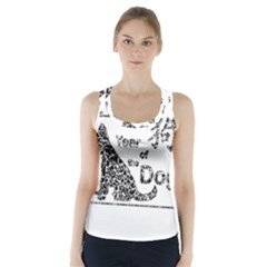 Year Of The Dog   Chinese New Year Racer Back Sports Top