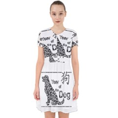 Year Of The Dog   Chinese New Year Adorable In Chiffon Dress