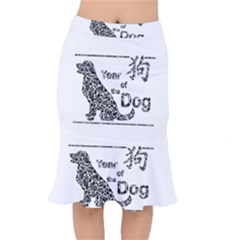 Year Of The Dog   Chinese New Year Mermaid Skirt