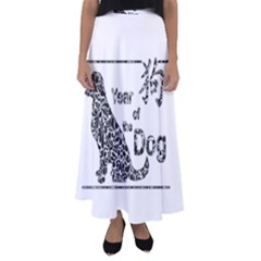 Year Of The Dog   Chinese New Year Flared Maxi Skirt