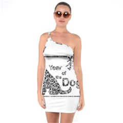 Year Of The Dog   Chinese New Year One Soulder Bodycon Dress