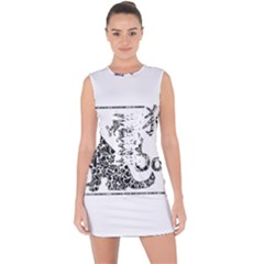 Year Of The Dog   Chinese New Year Lace Up Front Bodycon Dress