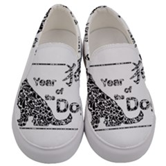 Year Of The Dog   Chinese New Year Men s Canvas Slip Ons