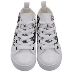 Year Of The Dog   Chinese New Year Kid s Mid Top Canvas Sneakers