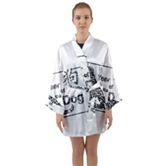 Year Of The Dog   Chinese New Year Long Sleeve Kimono Robe