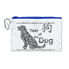 Year Of The Dog   Chinese New Year Canvas Cosmetic Bag (large)