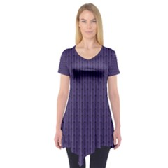 Color Of The Year 2018   Ultraviolet   Art Deco Black Edition Short Sleeve Tunic