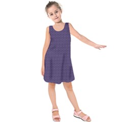 Color Of The Year 2018   Ultraviolet   Art Deco Black Edition Kids  Sleeveless Dress