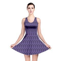 Color Of The Year 2018   Ultraviolet   Art Deco Black Edition Reversible Skater Dress