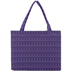 Color Of The Year 2018   Ultraviolet   Art Deco Black Edition Mini Tote Bag