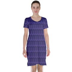 Color Of The Year 2018   Ultraviolet   Art Deco Black Edition Short Sleeve Nightdress