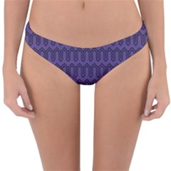 Color Of The Year 2018   Ultraviolet   Art Deco Black Edition Reversible Hipster Bikini Bottoms