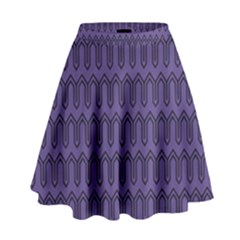 Color Of The Year 2018   Ultraviolet   Art Deco Black Edition High Waist Skirt