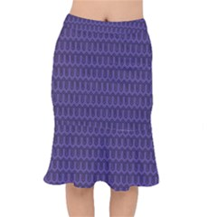 Color Of The Year 2018   Ultraviolet   Art Deco Black Edition Mermaid Skirt