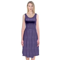 Color Of The Year 2018   Ultraviolet   Art Deco Black Edition Midi Sleeveless Dress