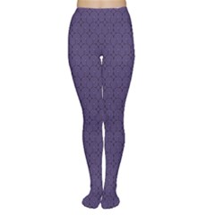 Color Of The Year 2018   Ultraviolet   Art Deco Black Edition Women s Tights