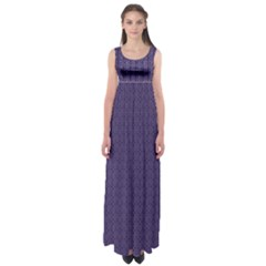 Color Of The Year 2018   Ultraviolet   Art Deco Black Edition Empire Waist Maxi Dress