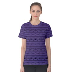 Color Of The Year 2018   Ultraviolet   Art Deco Black Edition Women s Cotton Tee