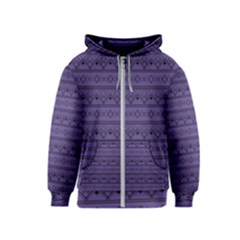 Color Of The Year 2018   Ultraviolet   Art Deco Black Edition Kids  Zipper Hoodie
