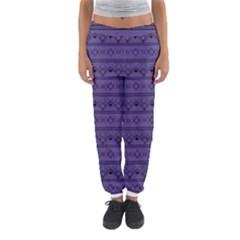 Color Of The Year 2018   Ultraviolet   Art Deco Black Edition Women s Jogger Sweatpants