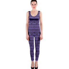 Color Of The Year 2018   Ultraviolet   Art Deco Black Edition Onepiece Catsuit
