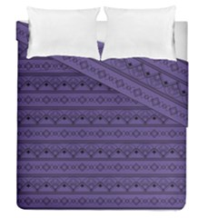 Color Of The Year 2018   Ultraviolet   Art Deco Black Edition Duvet Cover Double Side (queen Size)