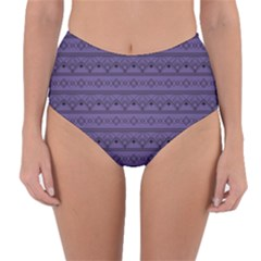 Color Of The Year 2018   Ultraviolet   Art Deco Black Edition Reversible High Waist Bikini Bottoms
