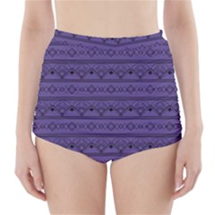 Color Of The Year 2018   Ultraviolet   Art Deco Black Edition High Waisted Bikini Bottoms