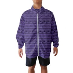 Color Of The Year 2018   Ultraviolet   Art Deco Black Edition Wind Breaker (kids)