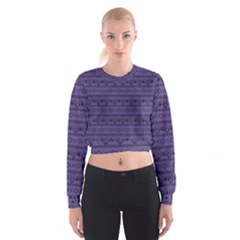 Color Of The Year 2018   Ultraviolet   Art Deco Black Edition Cropped Sweatshirt