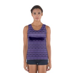 Color Of The Year 2018   Ultraviolet   Art Deco Black Edition Sport Tank Top
