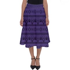 Color Of The Year 2018   Ultraviolet   Art Deco Black Edition Perfect Length Midi Skirt
