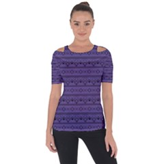 Color Of The Year 2018   Ultraviolet   Art Deco Black Edition Short Sleeve Top