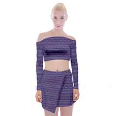 Color Of The Year 2018   Ultraviolet   Art Deco Black Edition Off Shoulder Top With Mini Skirt Set
