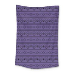 Color Of The Year 2018   Ultraviolet   Art Deco Black Edition Small Tapestry