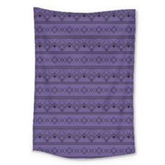Color Of The Year 2018   Ultraviolet   Art Deco Black Edition Large Tapestry