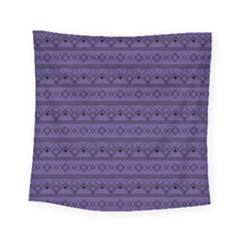 Color Of The Year 2018   Ultraviolet   Art Deco Black Edition Square Tapestry (small)
