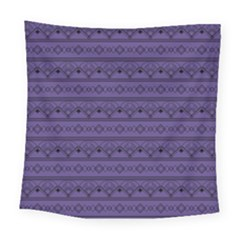 Color Of The Year 2018   Ultraviolet   Art Deco Black Edition Square Tapestry (large)
