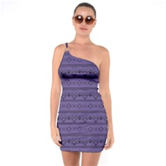 Color Of The Year 2018   Ultraviolet   Art Deco Black Edition One Soulder Bodycon Dress
