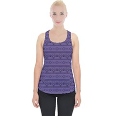 Color Of The Year 2018   Ultraviolet   Art Deco Black Edition Piece Up Tank Top