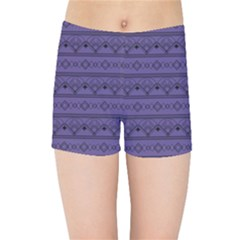 Color Of The Year 2018   Ultraviolet   Art Deco Black Edition Kids Sports Shorts