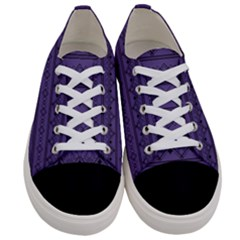 Color Of The Year 2018   Ultraviolet   Art Deco Black Edition Women s Low Top Canvas Sneakers