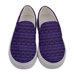 Color Of The Year 2018   Ultraviolet   Art Deco Black Edition Women s Canvas Slip Ons