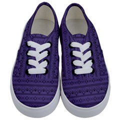 Color Of The Year 2018   Ultraviolet   Art Deco Black Edition Kids  Classic Low Top Sneakers