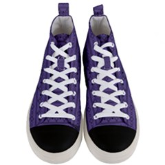 Color Of The Year 2018   Ultraviolet   Art Deco Black Edition Men s Mid Top Canvas Sneakers
