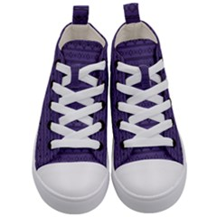 Color Of The Year 2018   Ultraviolet   Art Deco Black Edition Kid s Mid Top Canvas Sneakers