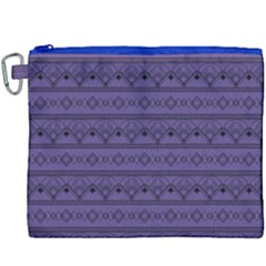 Color Of The Year 2018   Ultraviolet   Art Deco Black Edition Canvas Cosmetic Bag (xxxl)