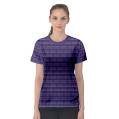 Color Of The Year 2018   Ultraviolet   Art Deco Black Edition Women s Sport Mesh Tee